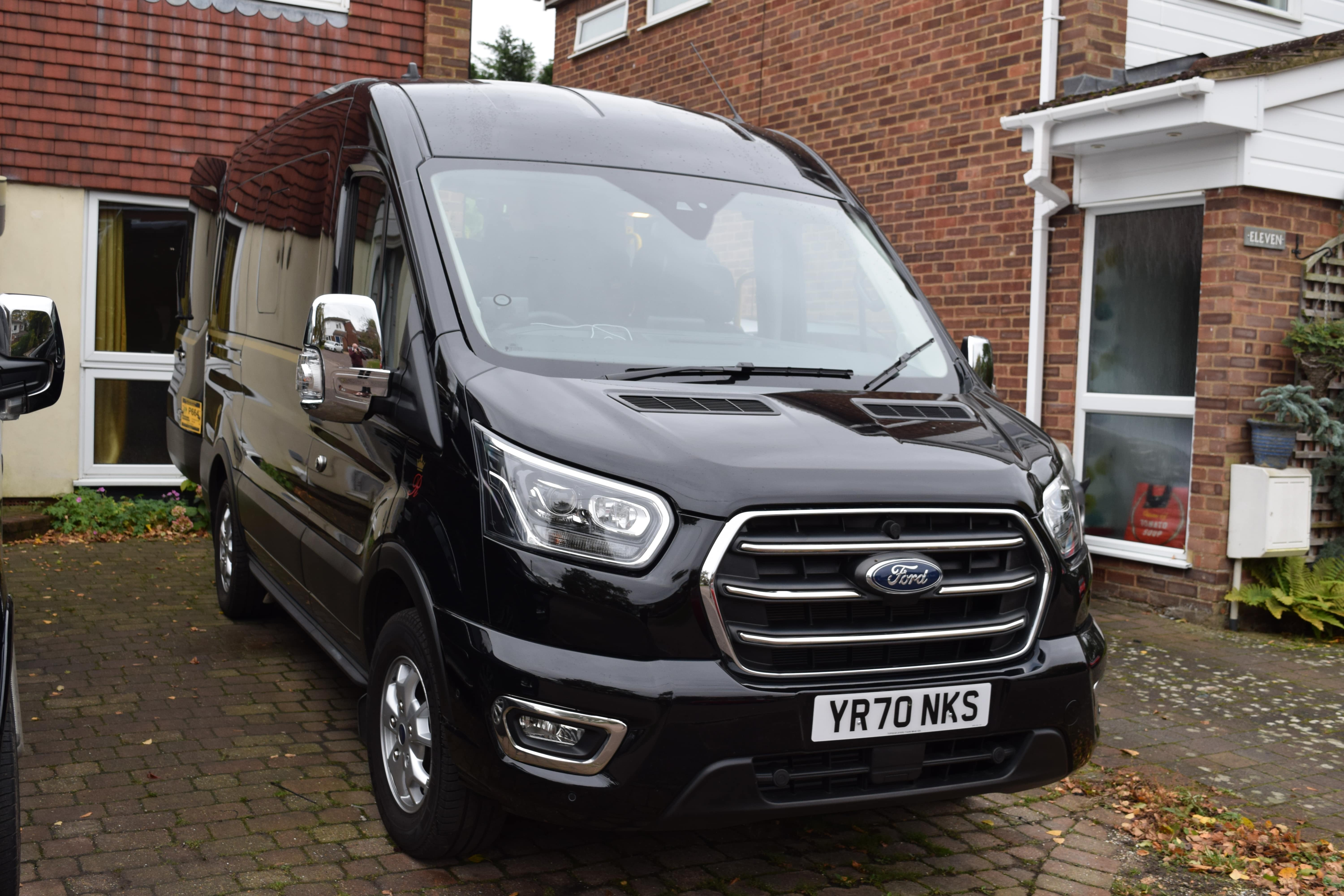 Outside view of the Ford Transit