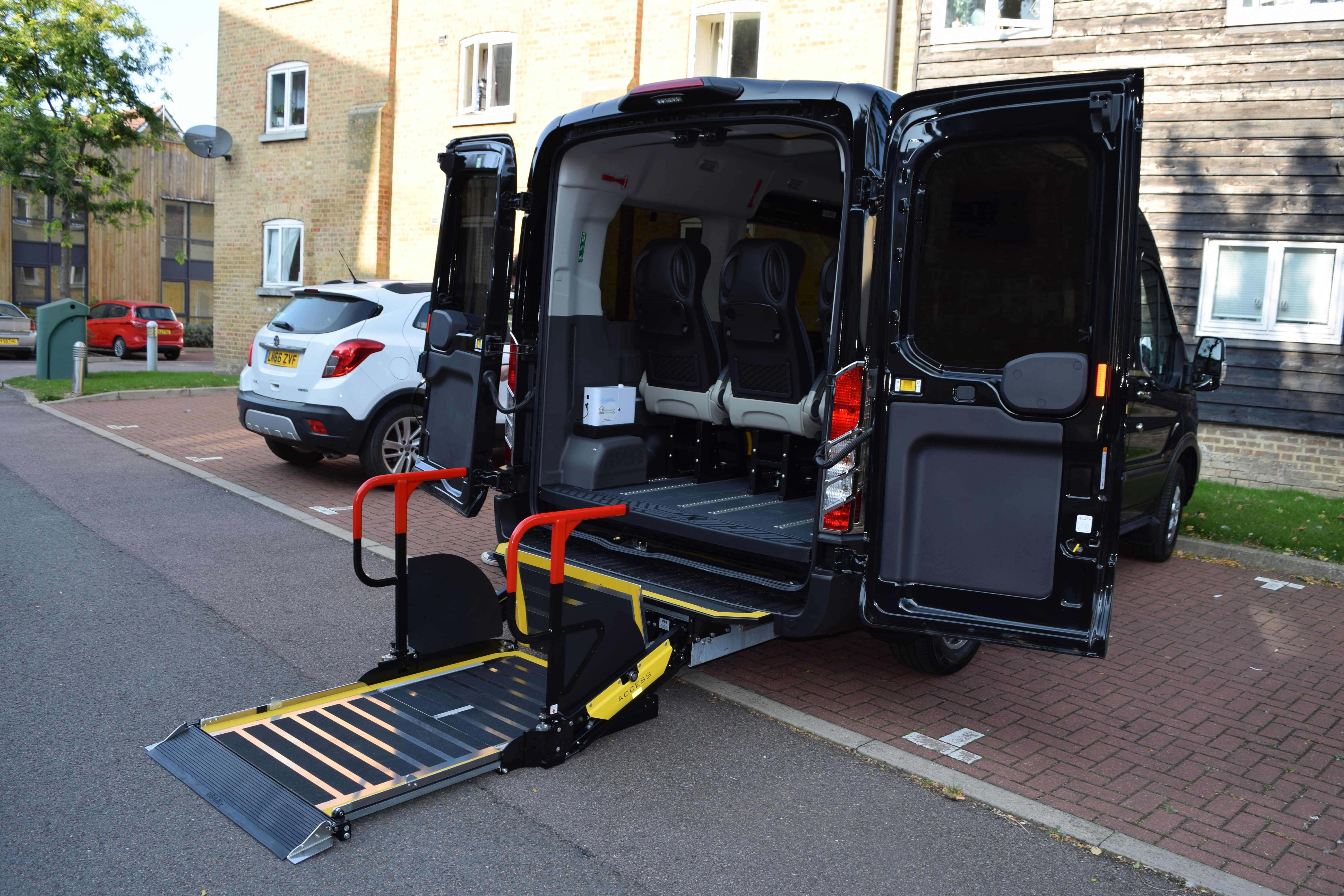 Exterior tail gate ramp for wheelchair access