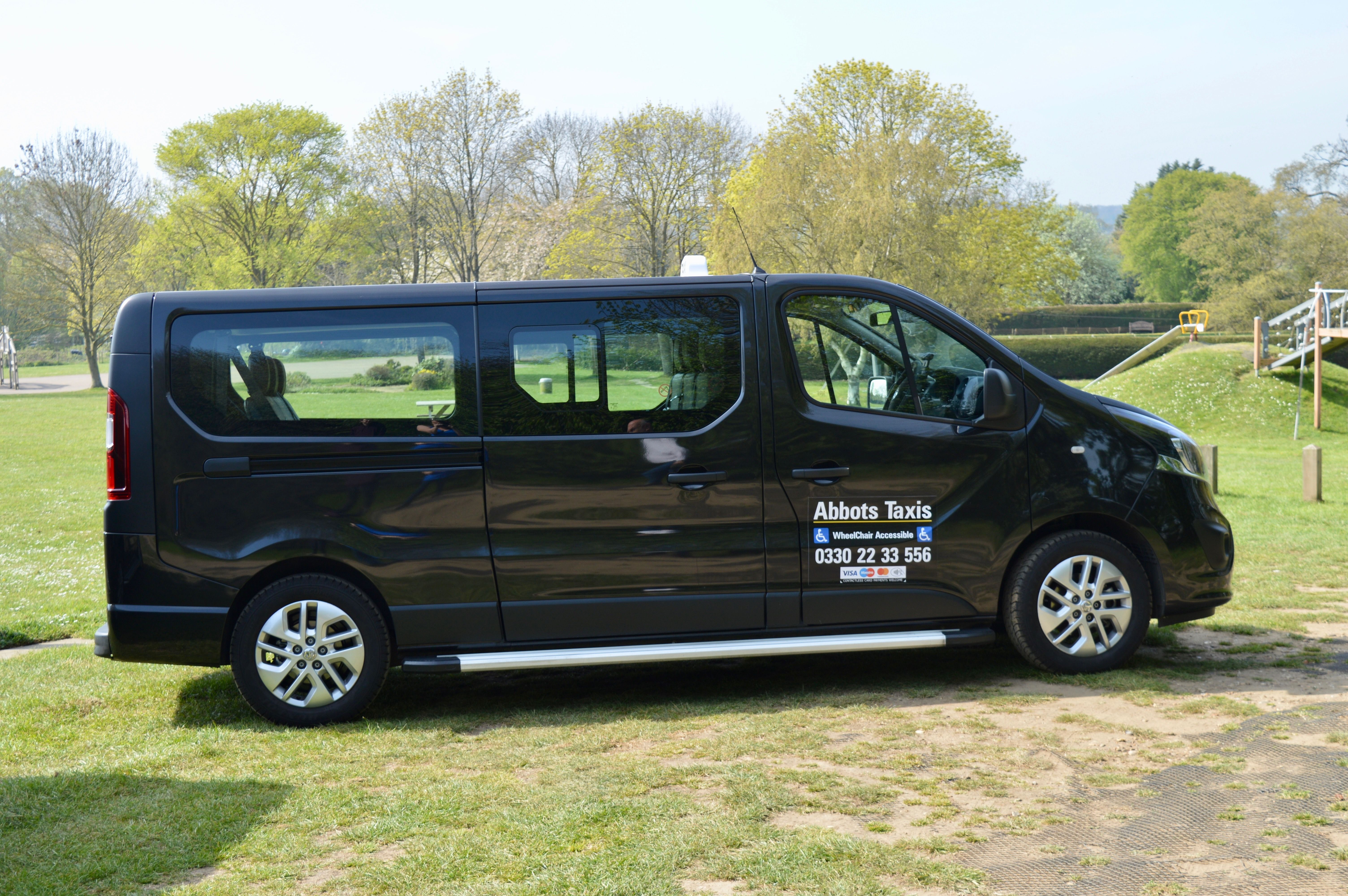 Outside view of the Vauxhall Vivaro 8 seater vehicle
