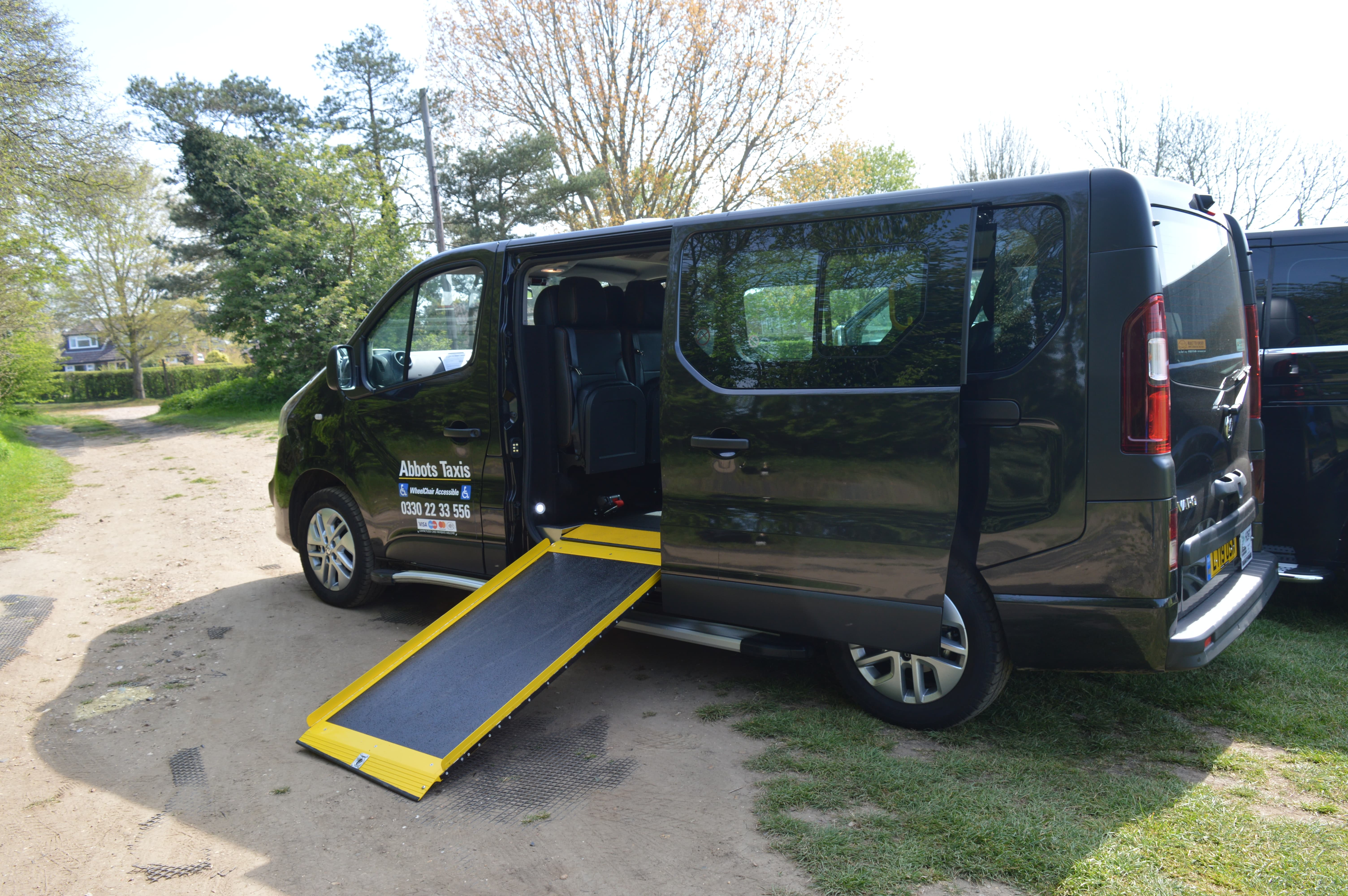 Side ramp of wheelchair accessible vehicle